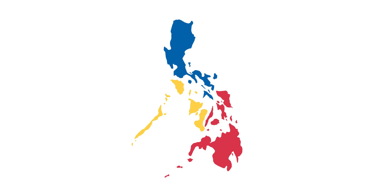 Philippines Filipino Map Sun And Stars Flag By Aireal