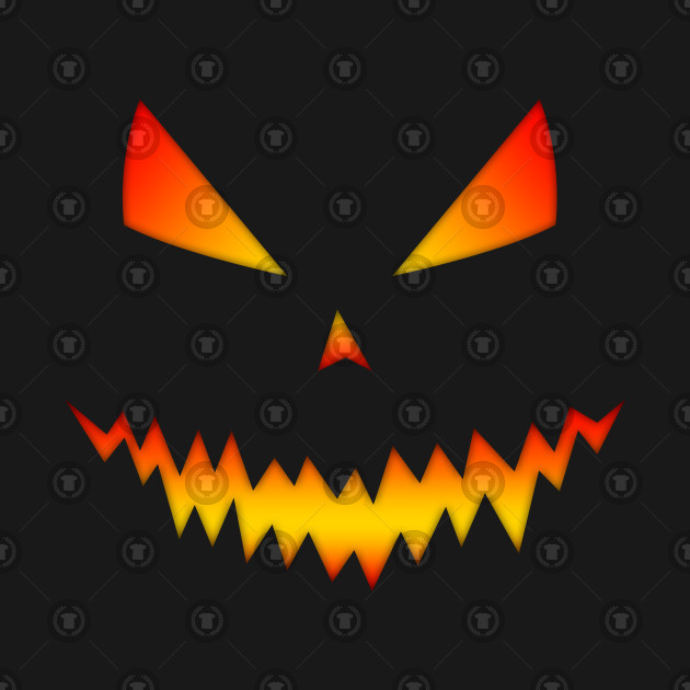 Cool And Scary Jack Olantern Face Halloween Halloween T Shirt