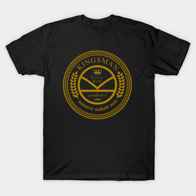 Kingsman the tailors - black and gold - Kick Ass - T-Shirt | TeePublic