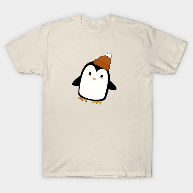 15f269fb Kawaii Penguin with a beanie - Penguin - T-Shirt | TeePublic