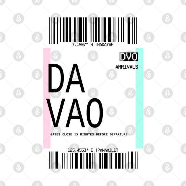DAVAO PLANE TICKET PHONE CASE FILIPINO