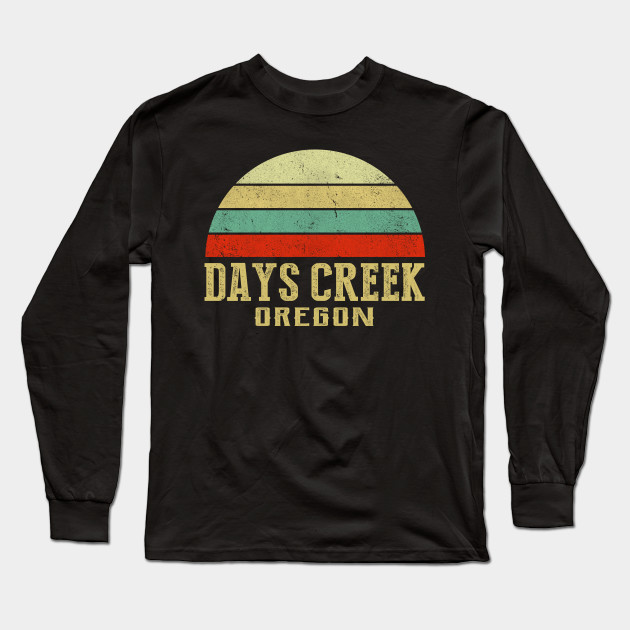 d96fade58c DAYS-CREEK OREGON Vintage Retro Sunset Shirt