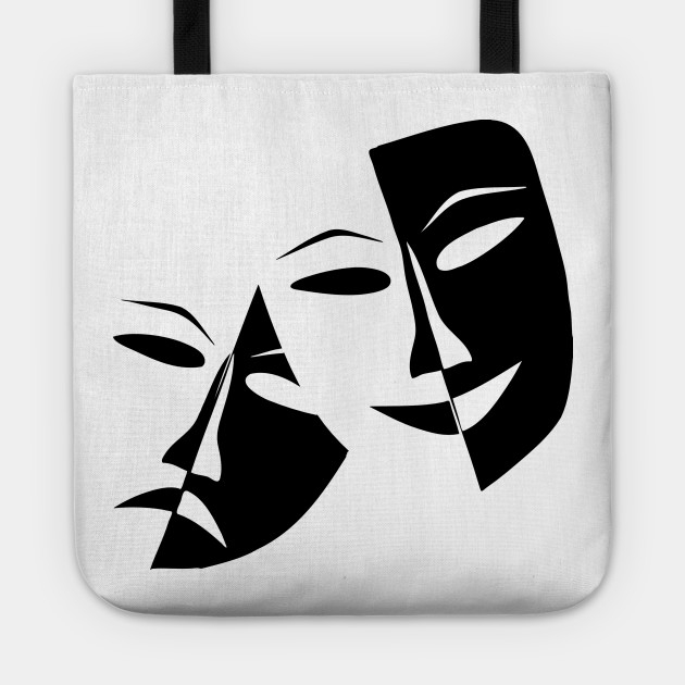 Drama Masks (Faces) Sad & Happy