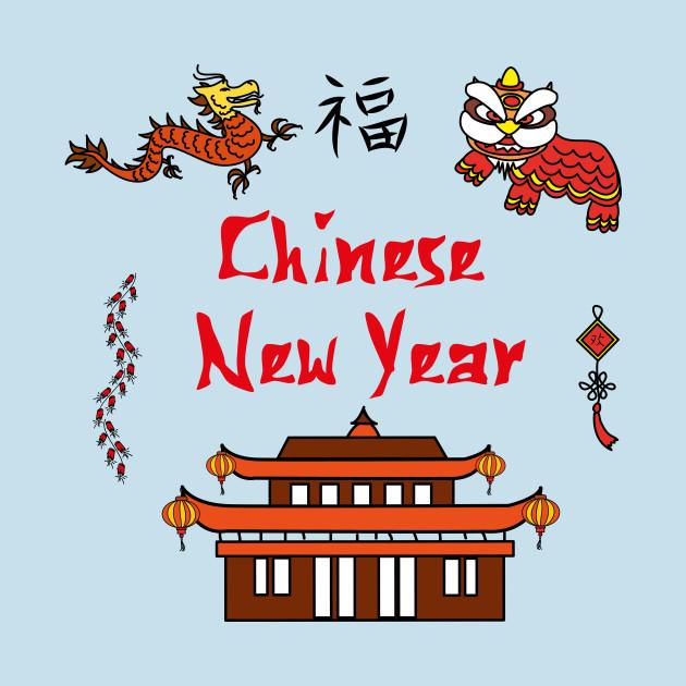 Chinese New Year Symbols China Long Sleeve T Shirt Teepublic