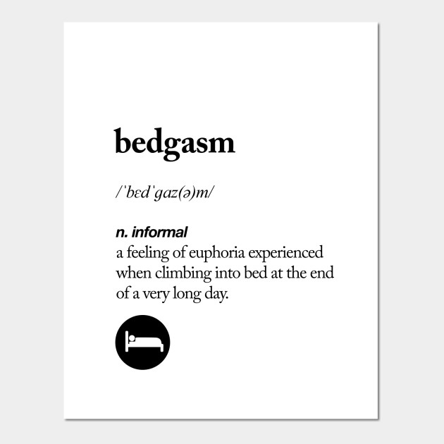 Wall Art, Bedgasm  bedroom Definition black Wall Print Typography Home Decor