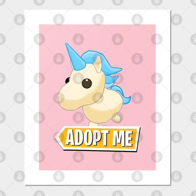Adopt Me Golden Unicorn Adopt Me Affiche Et Impression D Art
