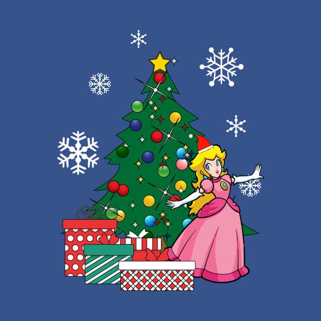 Christmas Princess.Princess Peach Around The Christmas Tree