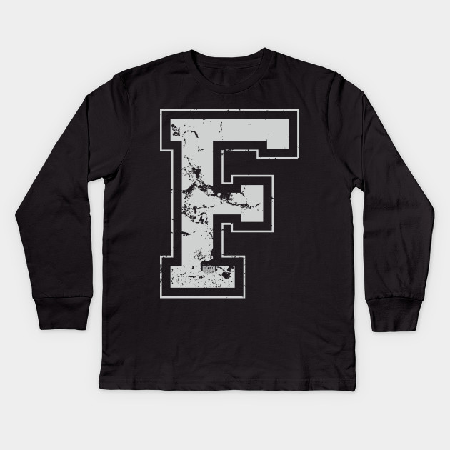 Initial Letter F Gray Jersey Sports Athletic Player