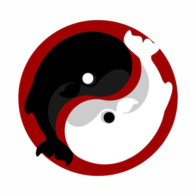 Yin yang whale