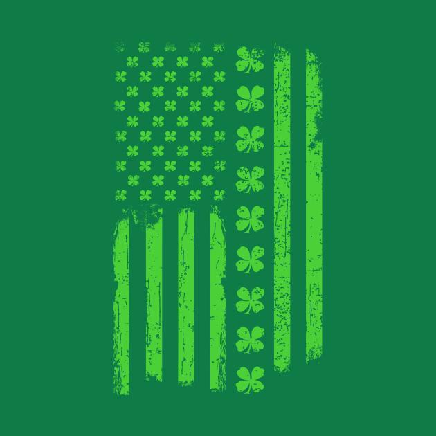 St. Patrick's Day Irish American USA Flag