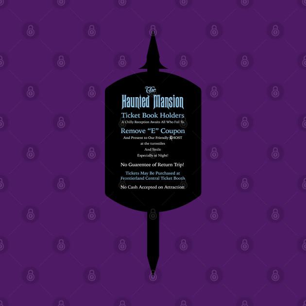 Haunted Mansion Ticket Shield