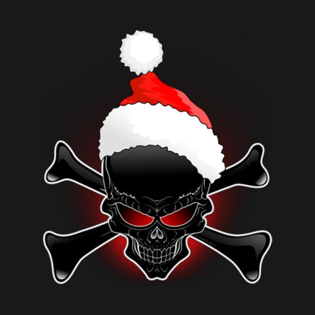 Christmas Santa Black Skull