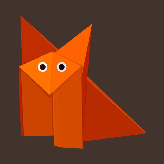 Cute Origami Fox Origami Fox T Shirt Teepublic