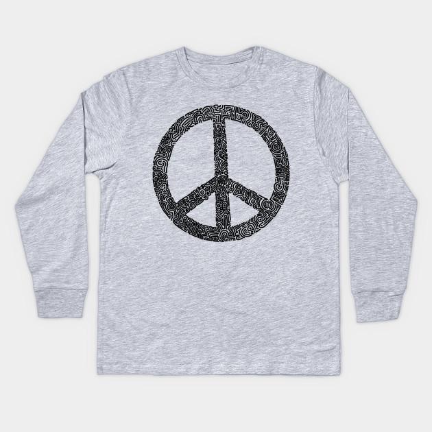 Symbol Peace Sign Peace Kids Long Sleeve T Shirt Teepublic