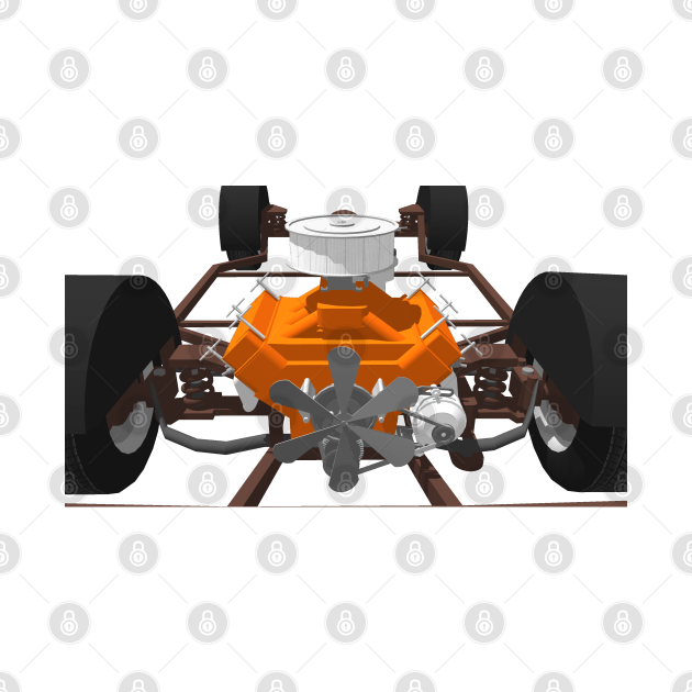 V8 Motor and Chassis