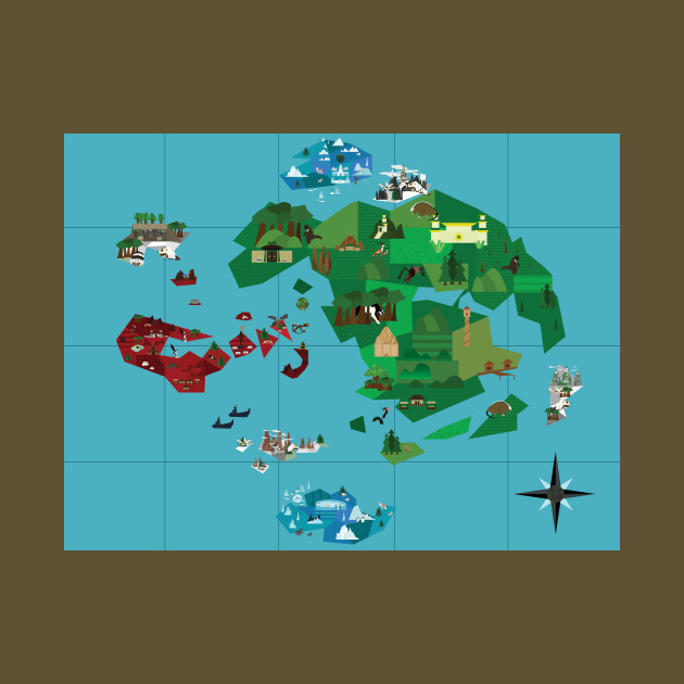 Avatar Map - Avatar The Last Airbender - Tapestry | TeePublic
