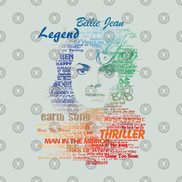 Michael Jackson - King Of Pop Typography - Type B