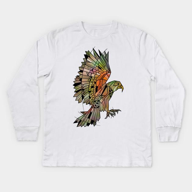 Kea Flying Bird - Parrot - Kids Long Sleeve T-Shirt  e92caef60