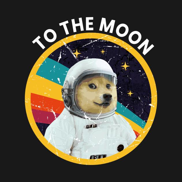 Dogecoin to the Moon - Dogecoin - T-Shirt   TeePublic