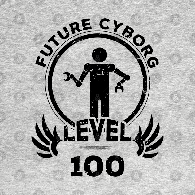 Level 100 Future Cyborg Robot Fan Gift