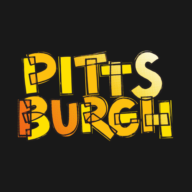 Pittsburgh Fan Black and Yellow Chunky Lettering