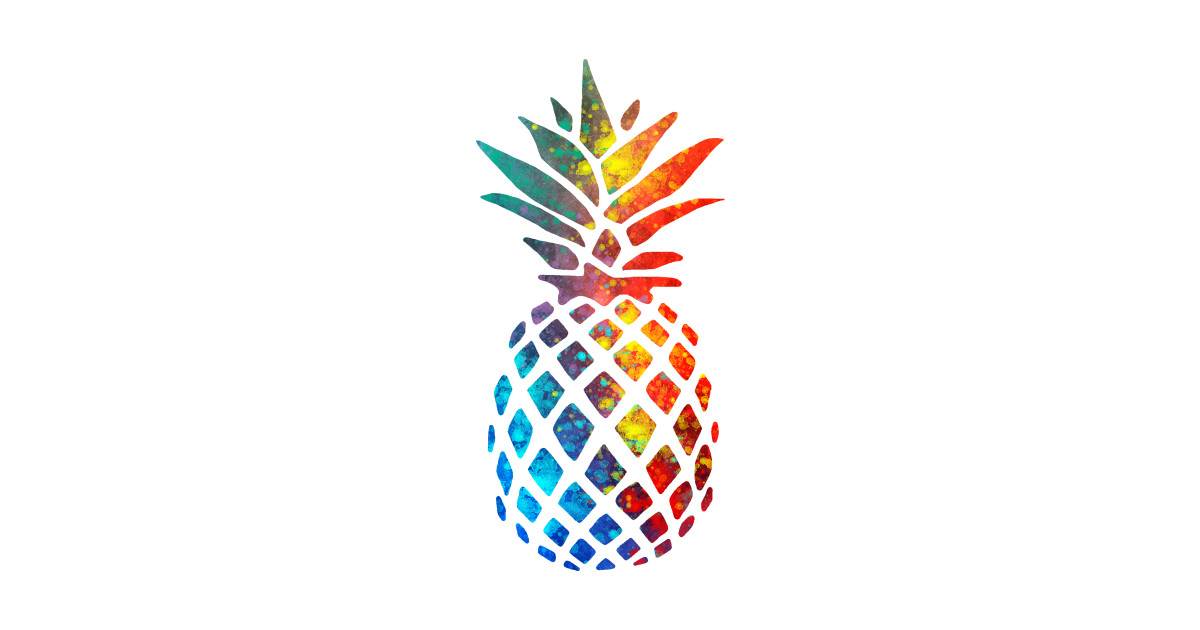 Colorful Watercolor Pineapple - Pineapple - Posters and ...