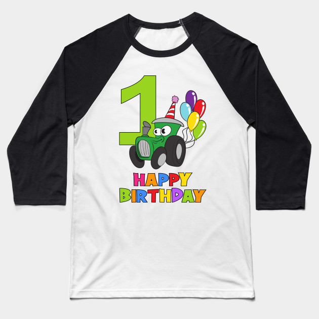 1st First Birthday Party 1 Year Old One Baseball T Shirt