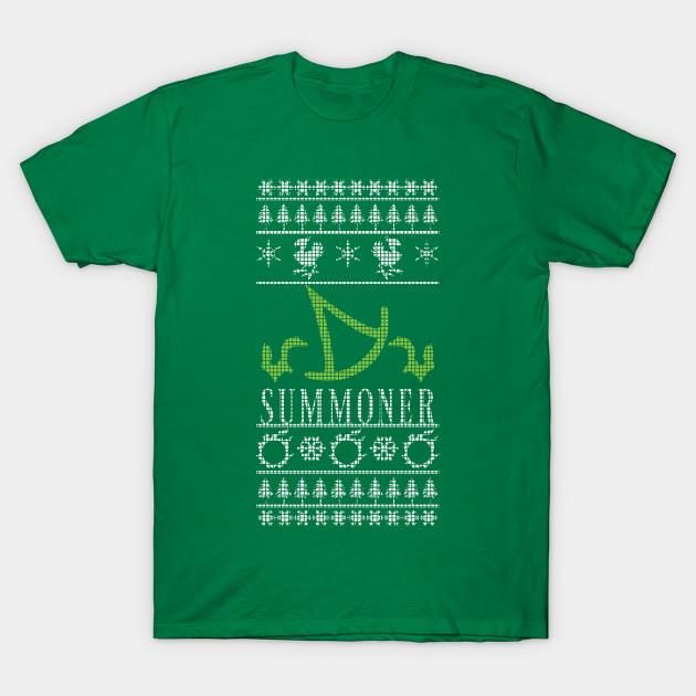 Final Fantasy XIV Summoner Ugly Christmas Sweater T-Shirt T-Shirt ...