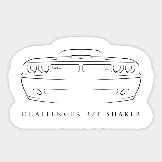 Dodge Challenger Rt Shaker Stencil