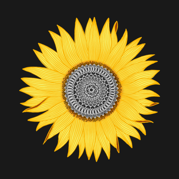 Sunflower Mandala Sunflower Tapestry Teepublic