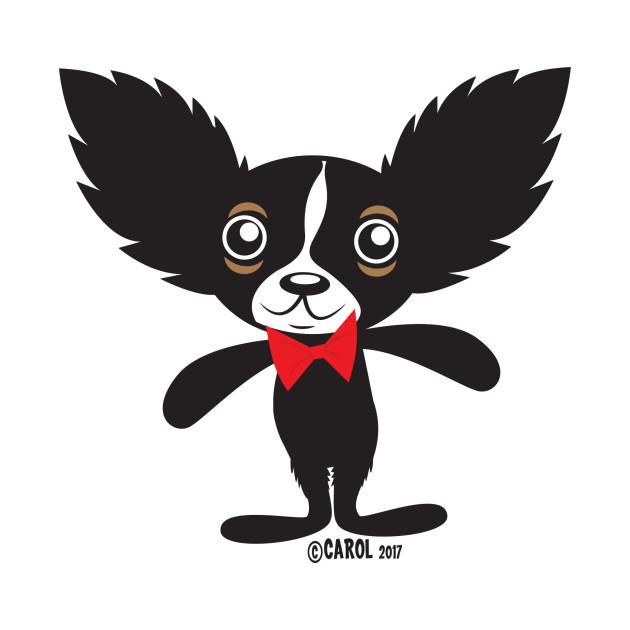 Chihuahua Hola Rico with bowtie jagged hair CM