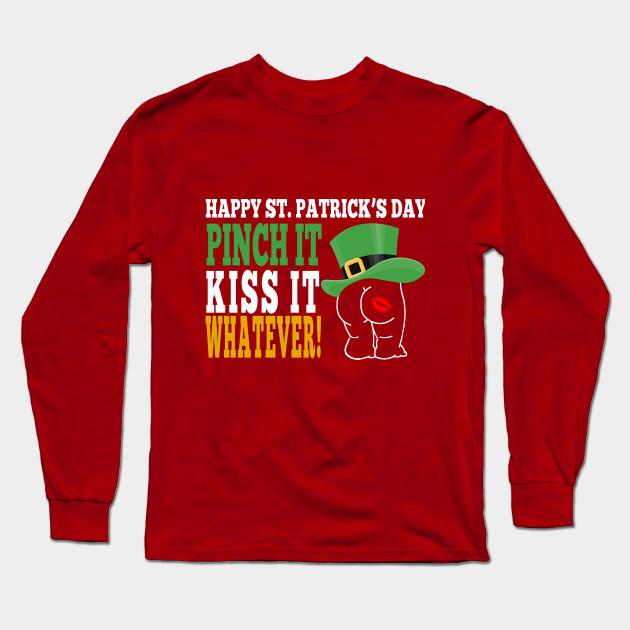 Cool Apparel Shop Luck of The Irish Happy St Patricks Day Sweatshirt Red