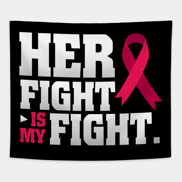 Her Fight Is My Fight Breast Cancer Pink Ribbon T Shirt