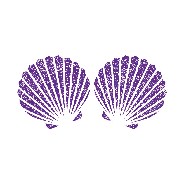 Purple Glitter Shells Mermaid BraBirthday Party Mermaid t
