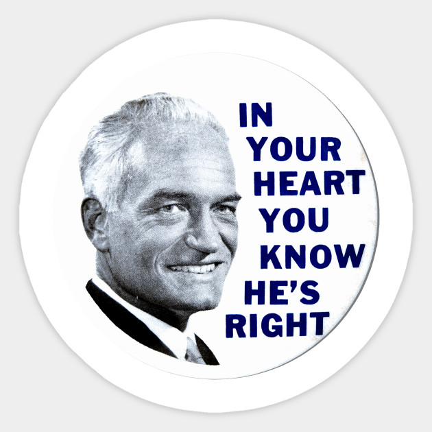 Barry Goldwater 1964 Presidential Campaign Button Design - Politics -  Sticker | TeePublic
