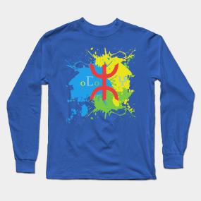 Amazigh Flag Long Sleeve T-Shirts   TeePublic
