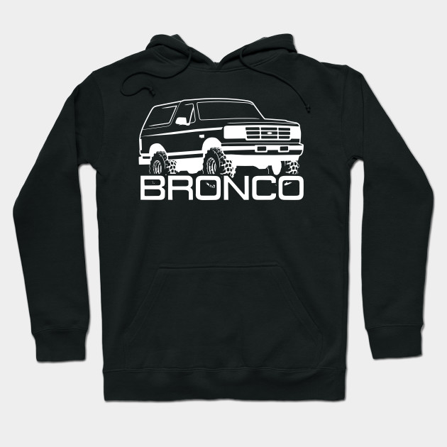 1992-1996 Ford Bronco Front Side, White Print