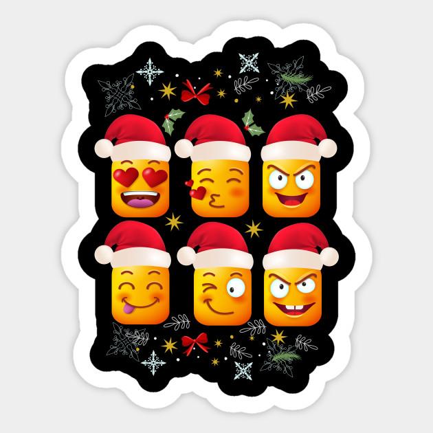 Christmas Emojis.Funny Christmas Santa Emojis Shirt Xmas Shirts For Family