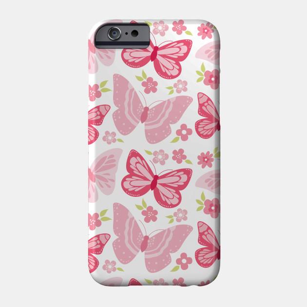 Cartoon Beautiful Butterfly Pattern Art Butterfly Phone Case