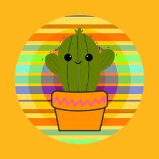 Cute happy cactus t-shirts