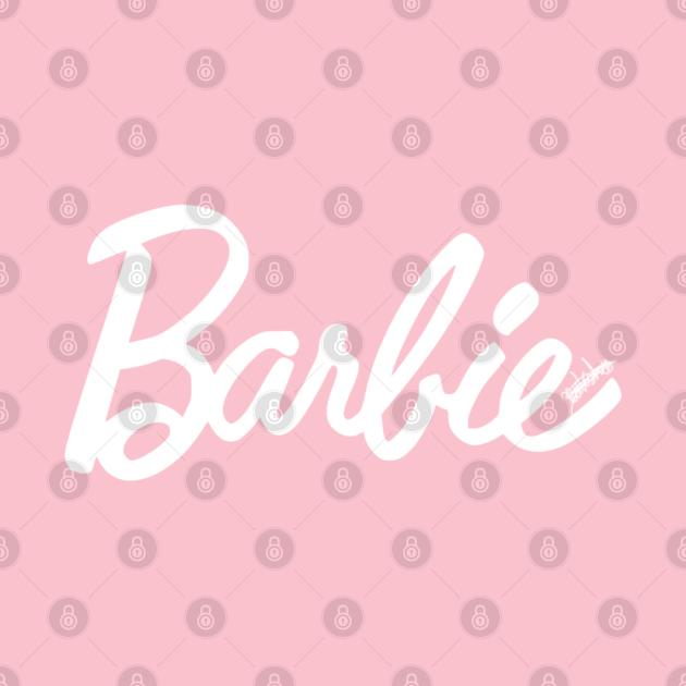 Barbie - White & Pink logo