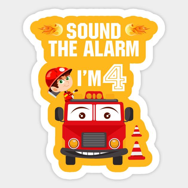 Birthday Boy Shirt For 4 Year Old 4th Birthday Sound The Alarm