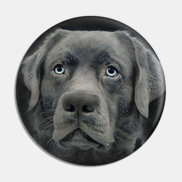 Black Labrador Retriever Dog Digital Design
