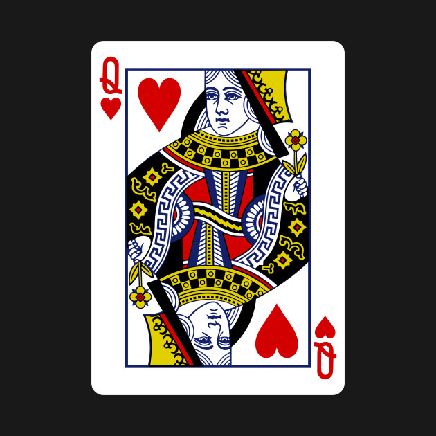 Queen of Hearts Playing Card - Queen Of Hearts - T-Shirt ...