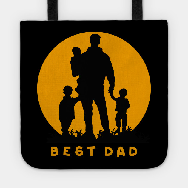Best Dad Of 3 Kids Cool Gift For Fathers Day Tote