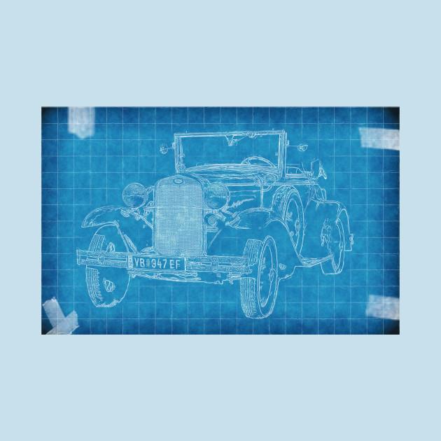Old car blueprint car blueprint t shirt teepublic 2405643 0 malvernweather Choice Image