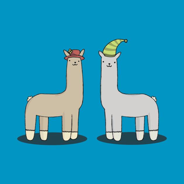 llamas with hats.