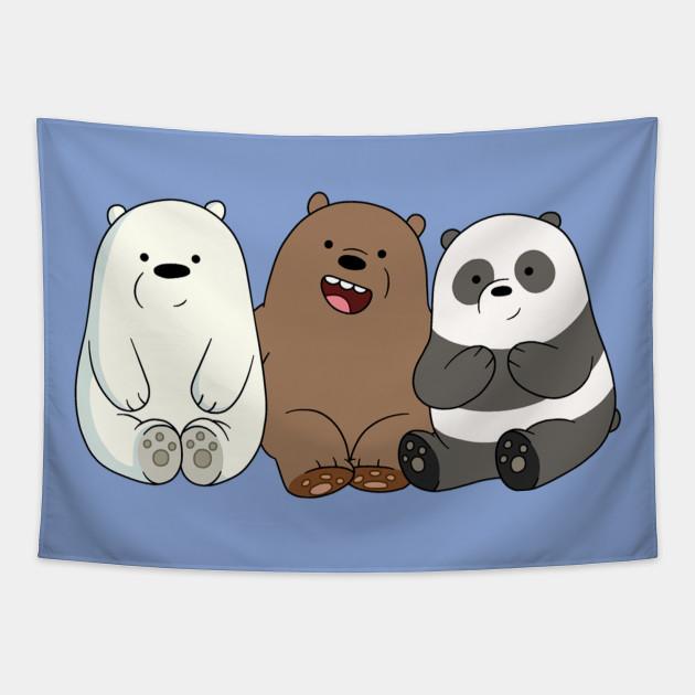 We Bare Bears Little Bears Cute Little Bears We Bare Bears Little Bears Panda Grizz Tapestry Teepublic