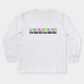 nerds club in chemical elements... Kids Long Sleeve T-Shirt