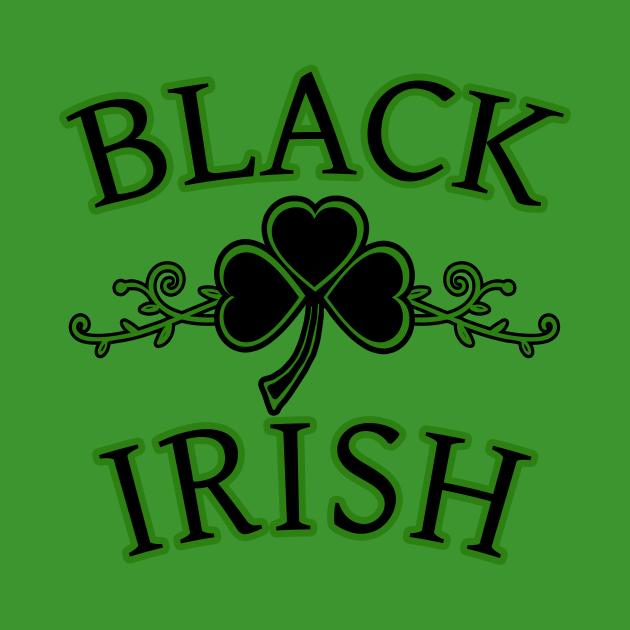 Black Irish with Shamrock Art